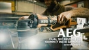 AEG Dual 18V 180mm (7 inch) Brushless Angle Grinder in action (BEWS18BLX180-0)