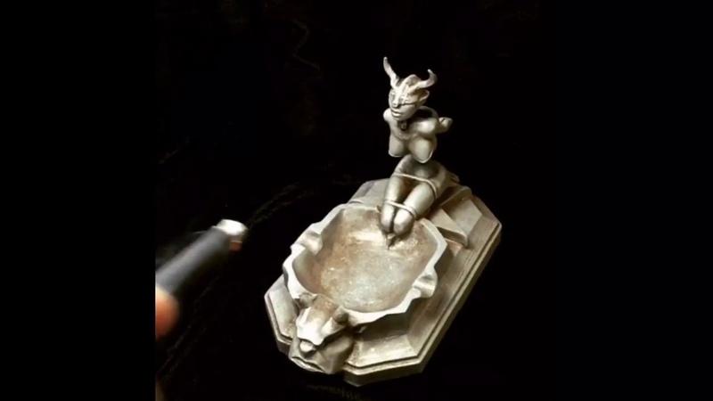 Fetish Boot Lighter case and Poseable Bondage ashtray by Thomas Kuntz
