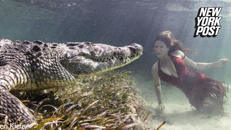 Models Swim in Crocodile-Infested Waters for The Perfect Pic | New York Post