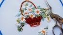 Flower embroidery :Daisies 🌼Цветочная вышивка: Ромашки malina_gm