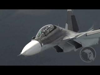 В Сети опубликованы впечатляющие кадры работы пилотов ВКС России
