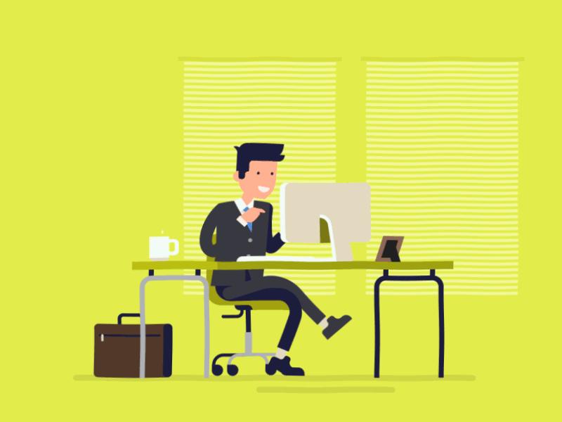 гифки офисные работники июле