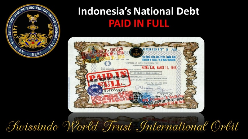 Swissindo Indonesias National Debt Paid In Full