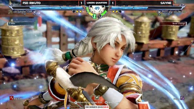 Soulcalibur VI @ NLBC Online 5 Rikuto Astaroth vs Saiyne Talim 4K 60fps