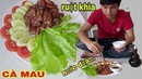 RUỘT HEO KHÌA NƯỚC DỪA thơm ngon tại nhà CÀ MAU (Pork intestines with coconut water are delicious)