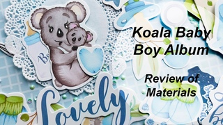 Koala Baby Boy Album. Materials review./ Детский альбом для мальчика. Обзор материалов
