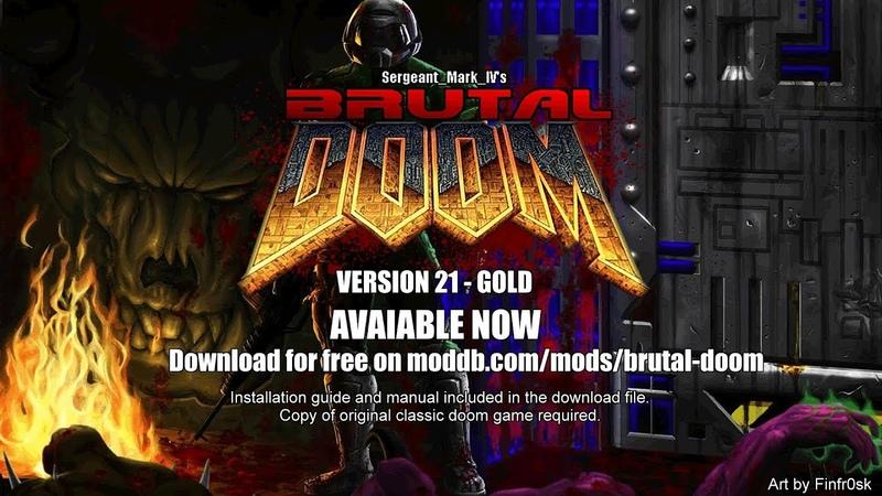 Brutal Doom v21 Gold Release Trailer
