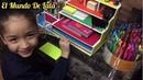 DIY How to make an easy Desk Organizer made out of cardboard Organizador para escritorios