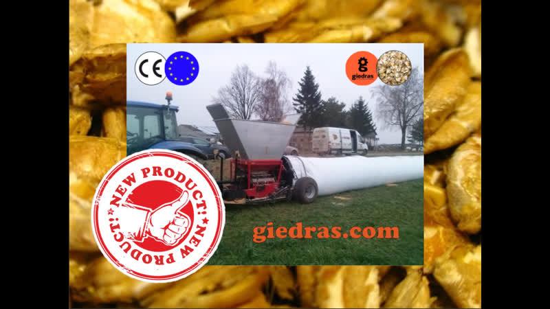 Crimper mill giedras 1400 CB with a bagger giedras.com info @giedras.com