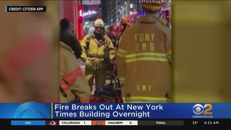 Fire Breaks Out At New York Times Building