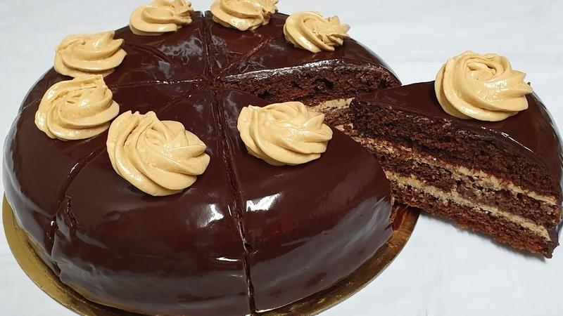 Oddiy masalliqlardan Shokoladli Tryufel torti Торт Шоколадный Трюфель