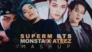 SuperM BTS Monsta X ATEEZ Jopping Not Today Fallin' Wonderland MASHUP