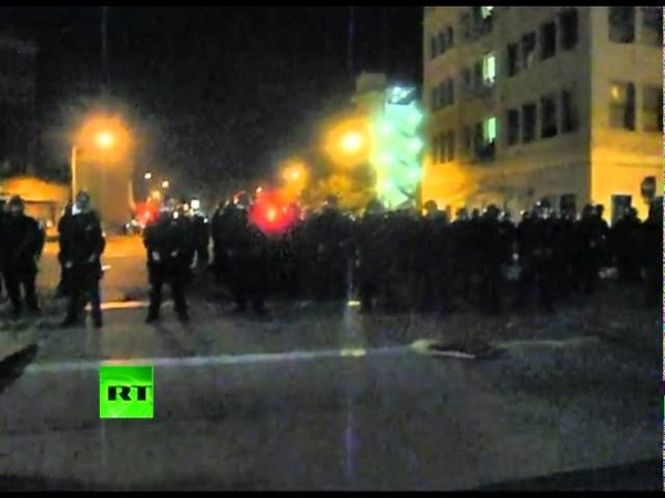 Occupy Oakland Video Protester shot with rubber bullet for filming cops