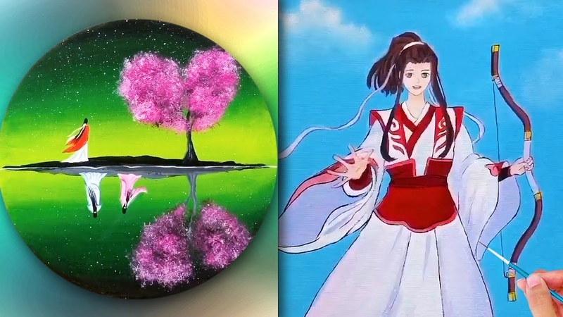 Art Drawing💘 Nghệ thuật vẽ tranh đỉnh cao của họa sĩ Trung Quốc51💘Tranh vẽ cổ trang💘Creative Ideas