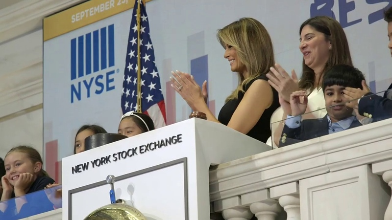 First Lady Melania Trump Rings Opening Bell At NYSE 9 23 2019