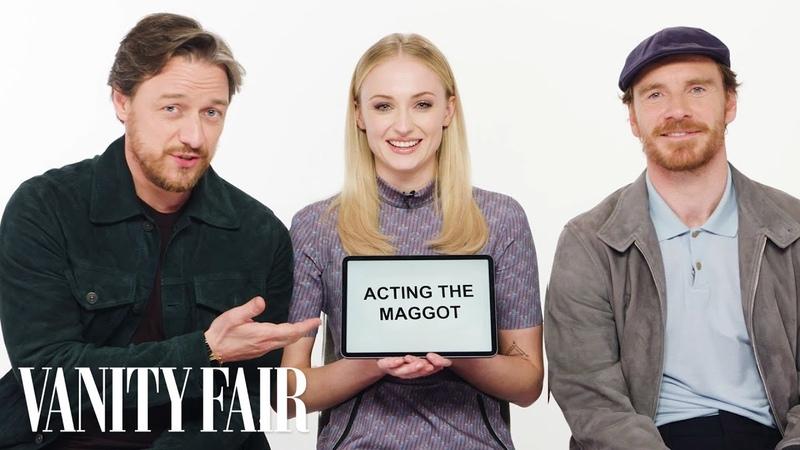 Sophie Turner James McAvoy and Michael Fassbender Teach You English Scottish and Irish Slang