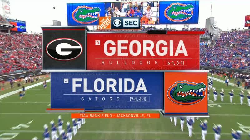 NCAAF 2019 / Week 10 / (8) Georgia Bulldogs - (6) Florida Gators / EN