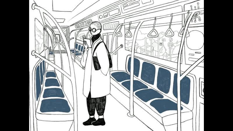 «Пустое метро» холст, масло, фантастика