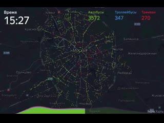 Исследование: один день из жизни московского транспорта