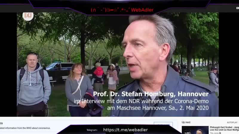 Ausschnitt Corona Demo 2 Hannover Statement Prof Dr Stefan Homburg