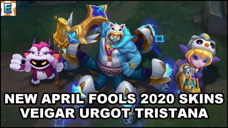All New April Fools 2020 Skins Pajama Guardian Cosplay Urgot Furyhorn Veigar Pengu Tristana