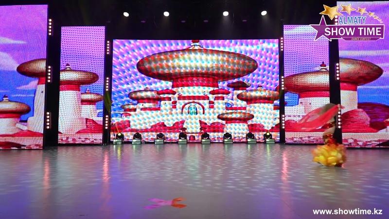Левина Анжелика - Зажигательный восток   Танцевальный конкурс Show Time Almaty   осень 2019