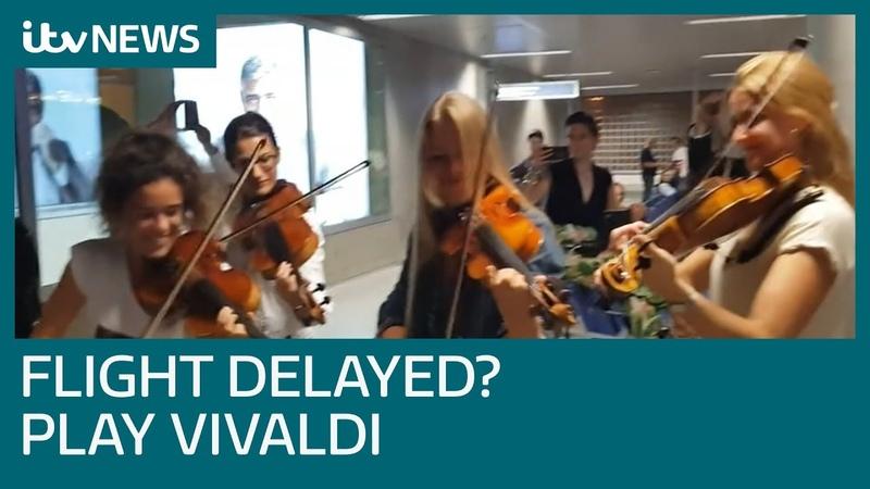 Delayed passengers treated to stunning rendition of Vivaldi | ITV News