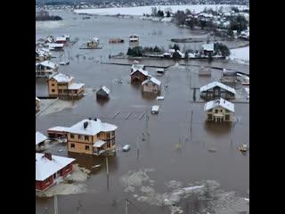 Элитный посёлок в вологде ушёл под воду