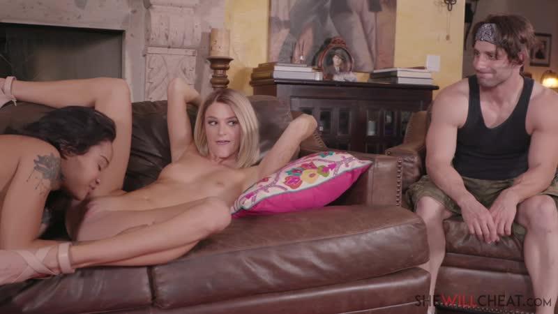 Emma Hix makes her Cuck Hubby Watch her Fuck her Ex Girlfriend Honey Gold Lesbian Cuckold Porn Порно