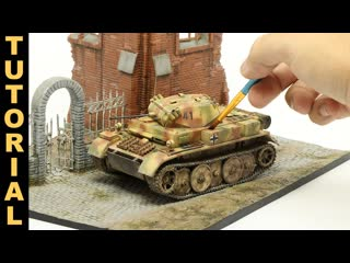Lets build and paint a realistic wwii german tank model, from start to finish!