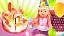 Игры для девочек – Торт на День Рождения куколки! – Беби Бон в смешном видео онлайн с Принцессами