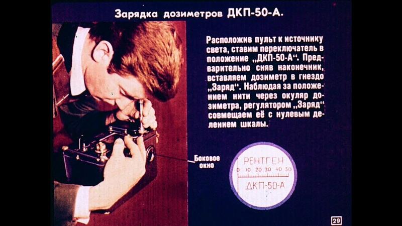 Диафильм Комплект индивидуальных дозиметров