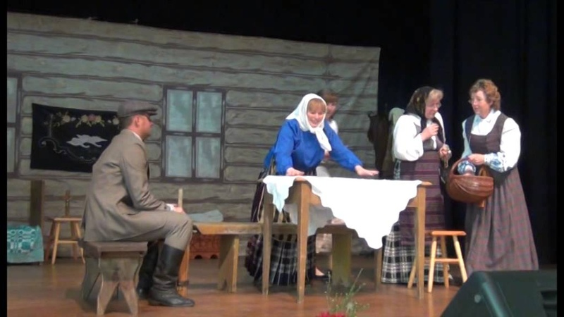 Seinų Lietuvių namų teatro spektaklis pagal Vaižgantą Namai pragarai 1 dalis