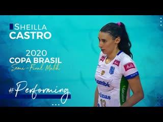 Sheilla castros performance at the semi-final match copa brasil 2020