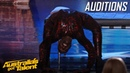 CREEPY Spider Contortionist Troy James   Auditions   Australia's Got Talent