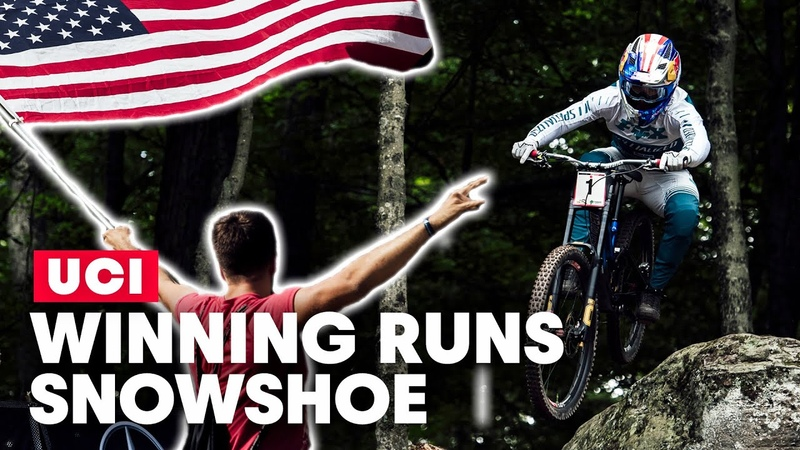 The Final Battle for World Cup Success Winning Runs from UCI MTB Snowshoe 2019