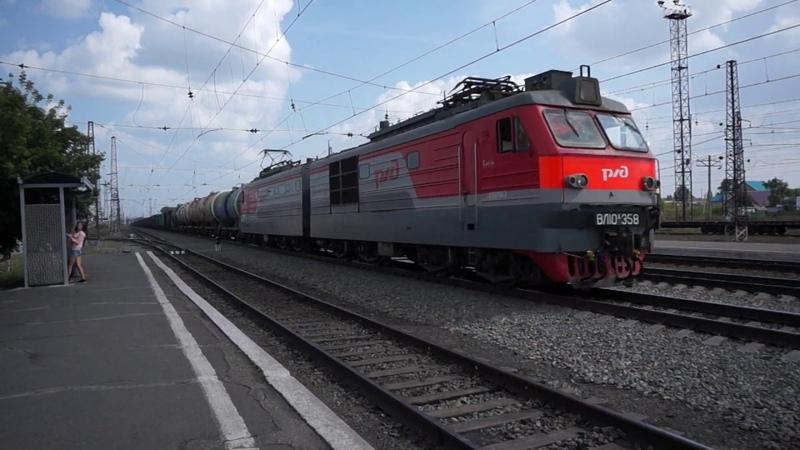 Электровоз ВЛ10К 358 на станции Чик