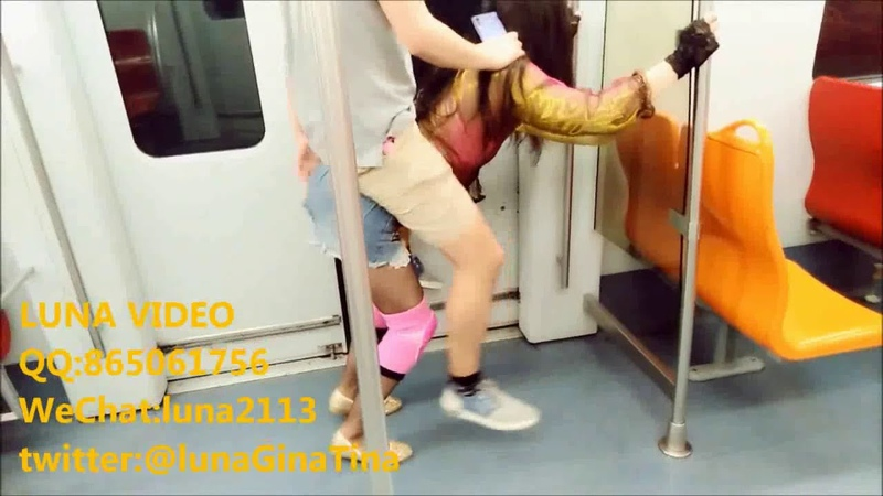 Luna012 PV Female Lux on the subway ponyplay and ponygirl