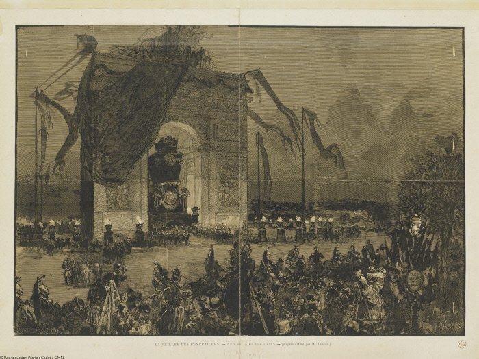 Похороны Виктора Гюго 1885г.