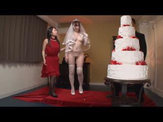 Только одна голая, CFNF, CMNF  гости и тамада унижают голую невесту.