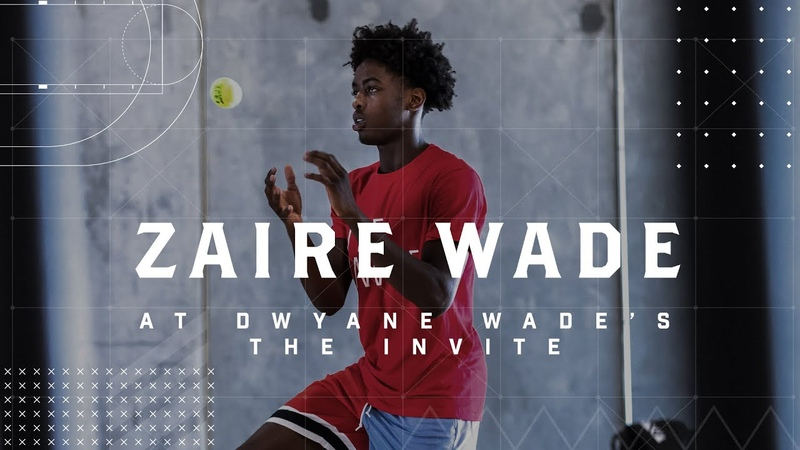 Zaire Wade put in work alongside NBA talent at Dwyane Wade's The Invite 💪