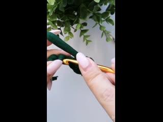 Красивая косичка в начале вязания крючком