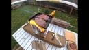 печь щепочница жарю мясо гриль