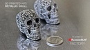 Artistic skull 3D printed on RussianSLM FACTORY from metal. Processing.