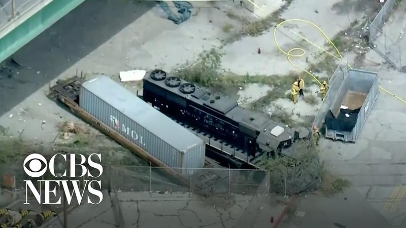Feds Man intentionally derailed train near hospital ship