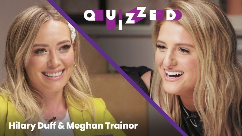 Meghan Trainor Gets QUIZZED by Hilary Duff on 'The Lizzie McGuire Movie' Quizzed