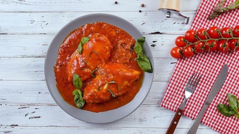 Куриное филе в томатном соусе с сыром Рецепты от Со Вкусом