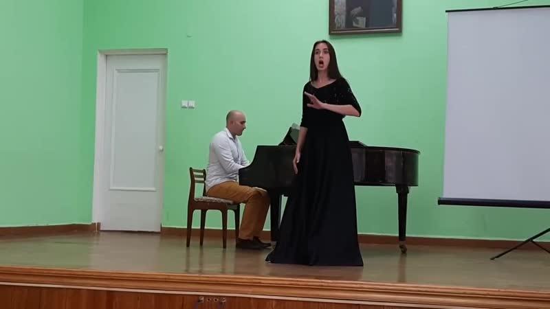 Молдавская народная песня Девушка Мари -Анна Сазанова (сопрано), Александр Сазанов (ф-но)