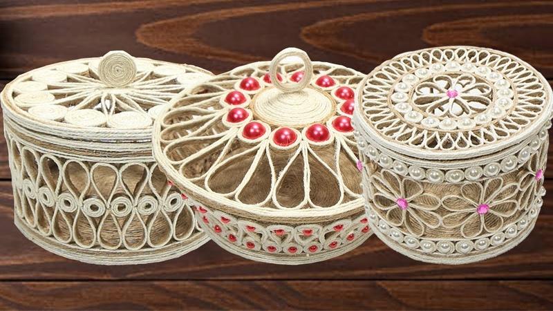 5 Beautiful Jute jewellery storage box for girls