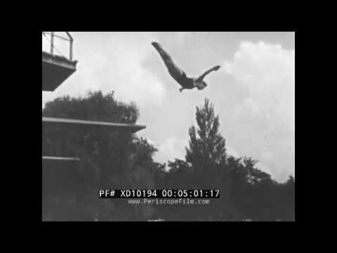 PRE-WWII ERA GERMAN DIVING BOARD EDUCATIONAL FILM (SILENT FILM) XD10194